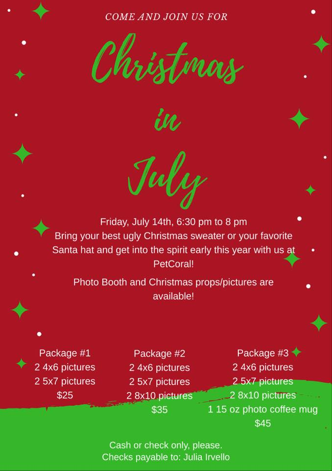 Christmas in July and Yappy Hour at PetCoral in Cape Coral