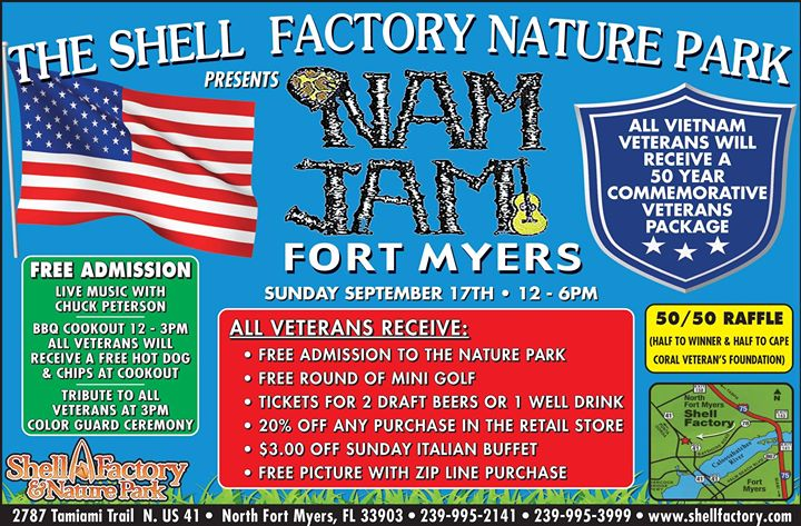 The Shell Factory & Nature Park's Nam-Jam Set for October 14th