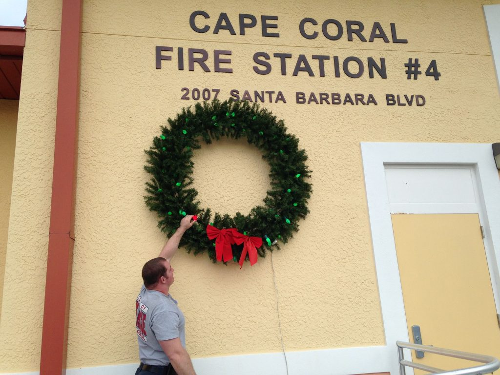 CAPE CORAL FIRE DEPARTMENT LAUNCHES ANNUAL HOLIDAY FIRE SAFETY CAMPAIGN