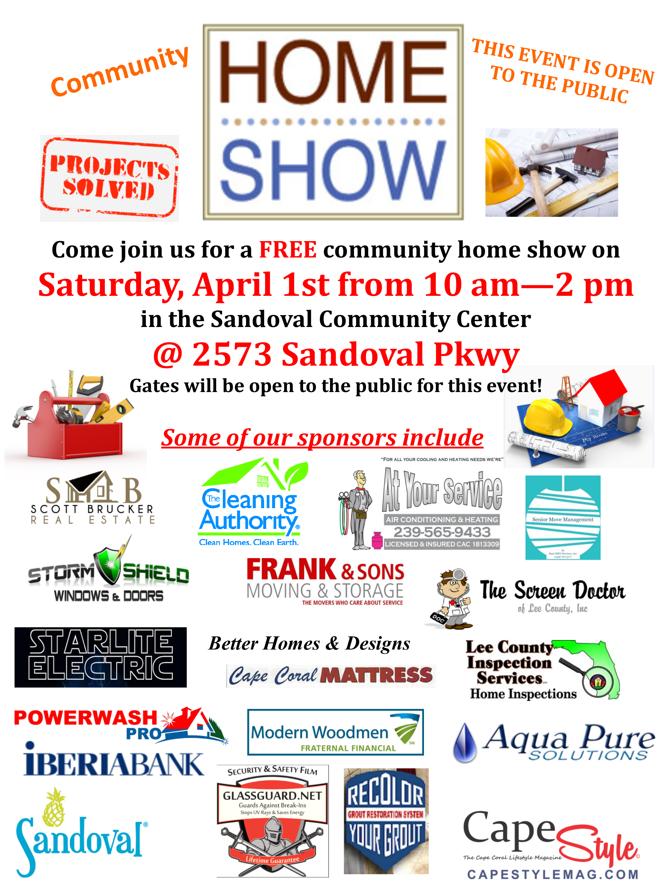 home show flyer 2017 with sponsor logos capestyle magazine online