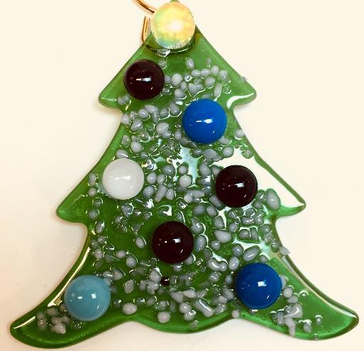 karma and coconuts fused glass christmas ornaments