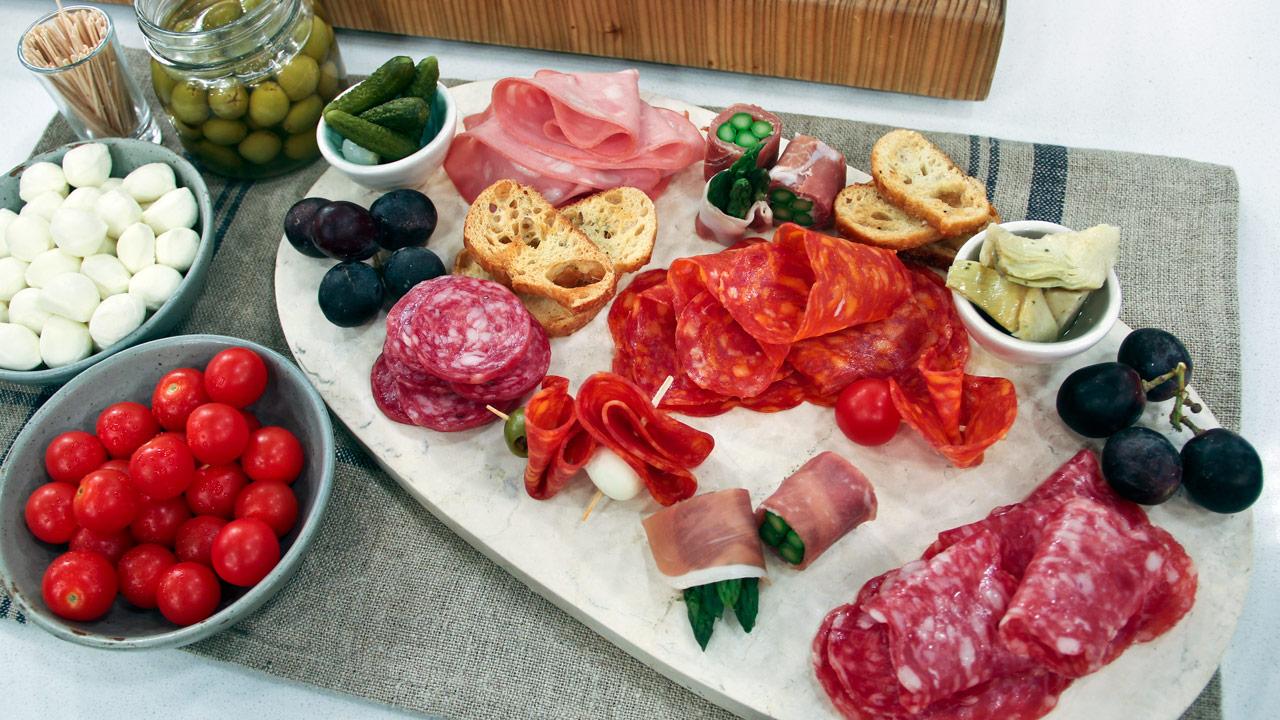 An Italian Charcuterie Platter