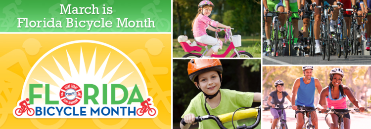 March is Bicycle Month in Florida