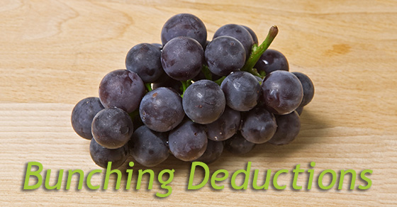 Bunching Tax Deductions to Maximize Their Benefit