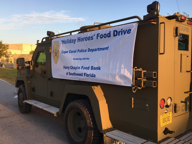 """Cape Coral Police Partnering with Walmart for 7th Annual """"Holiday Heroes"""" Food Drive"""