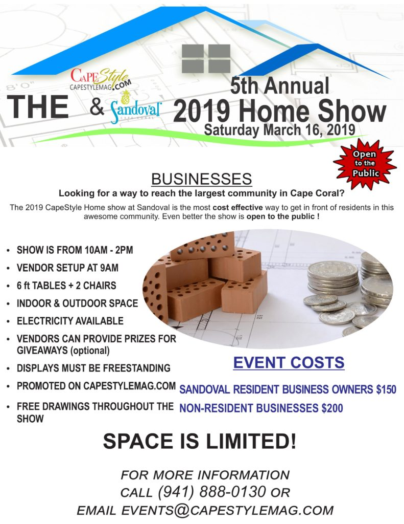 Information & Payment   Page for the 2019 Sandoval Home Show Event