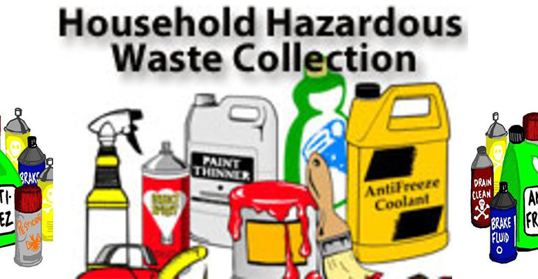 Household Chemical Waste Collection Scheduled for May 1