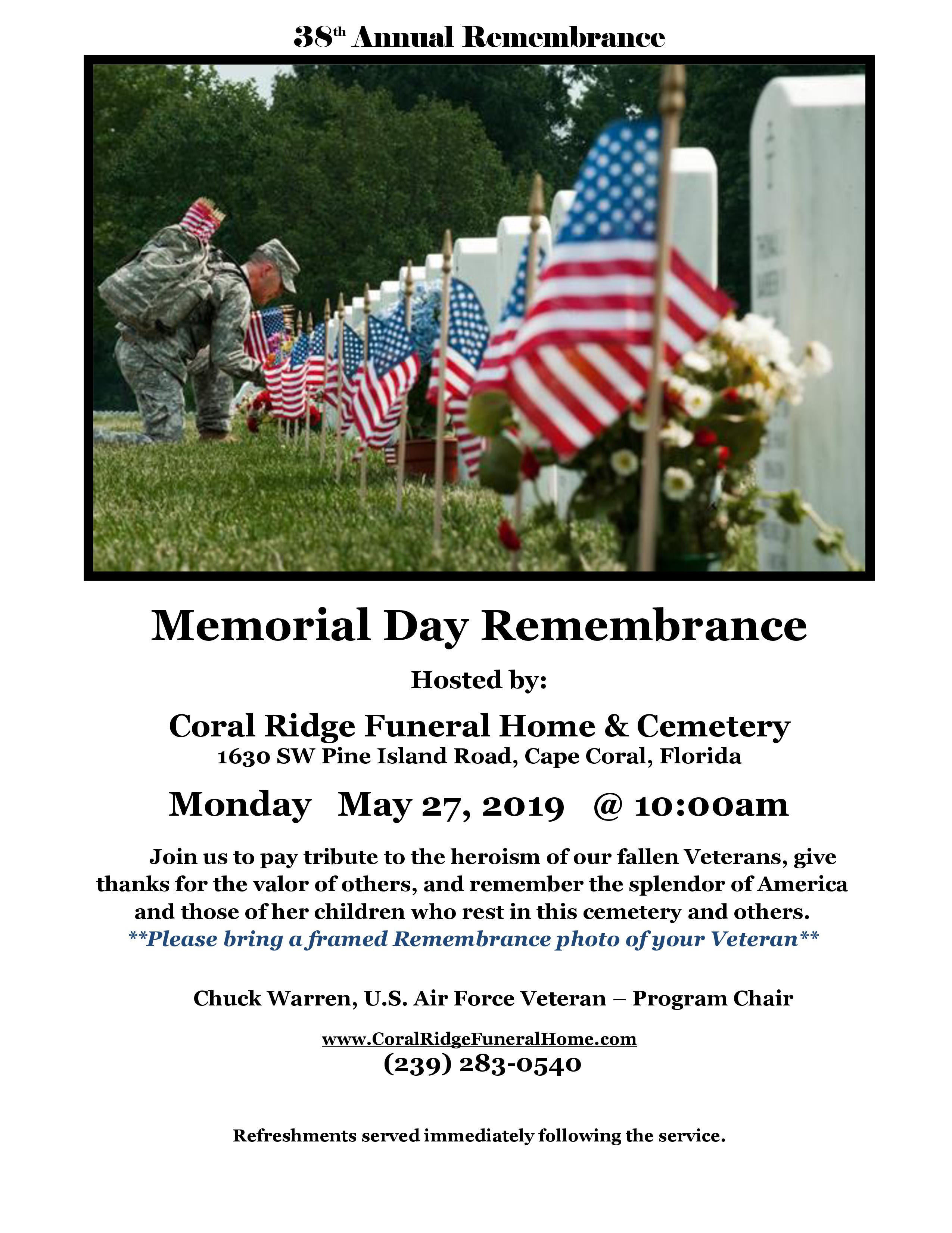 38th Annual Memorial Day Service Capestyle Magazine Online