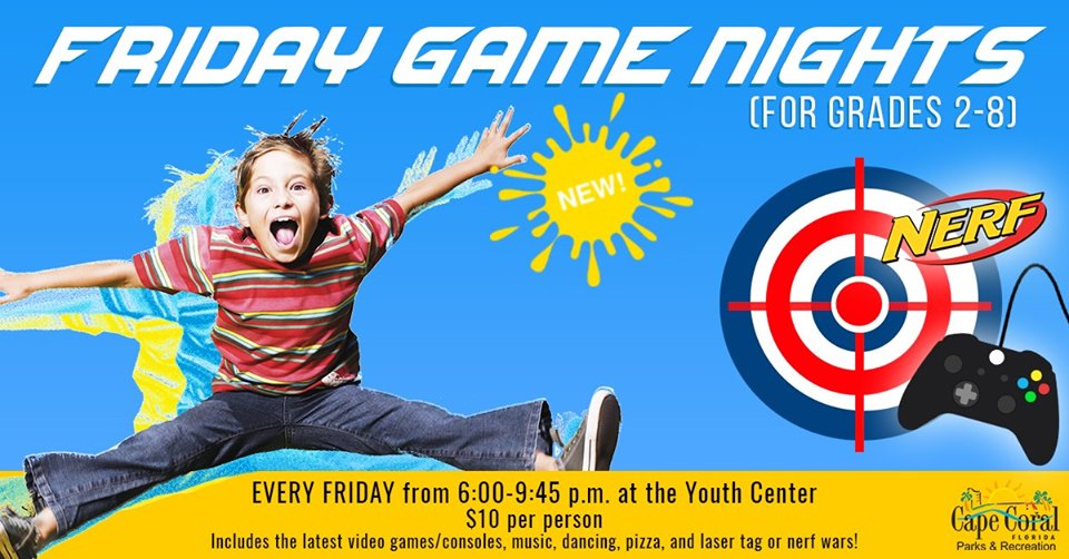 Friday Game Nights @ the Youth Center