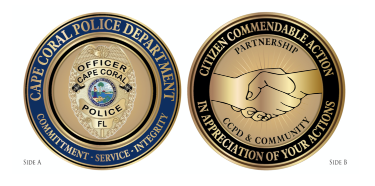 Citizen Receives Commendable Action Coin for his Service
