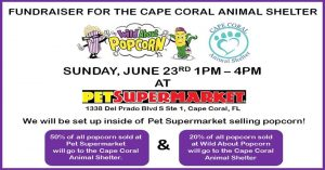 Wild About Popcorn Fundraiser for Cape Coral Animal Shelter