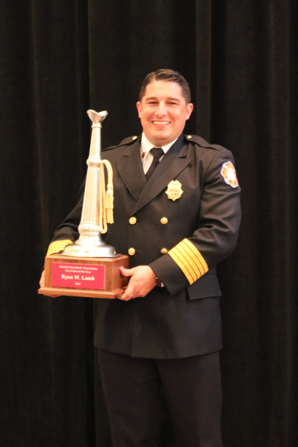 CAPE CORAL FIRE CHIEF RECOGNIZED AS FLORIDA FIRE CHIEF OF THE YEAR