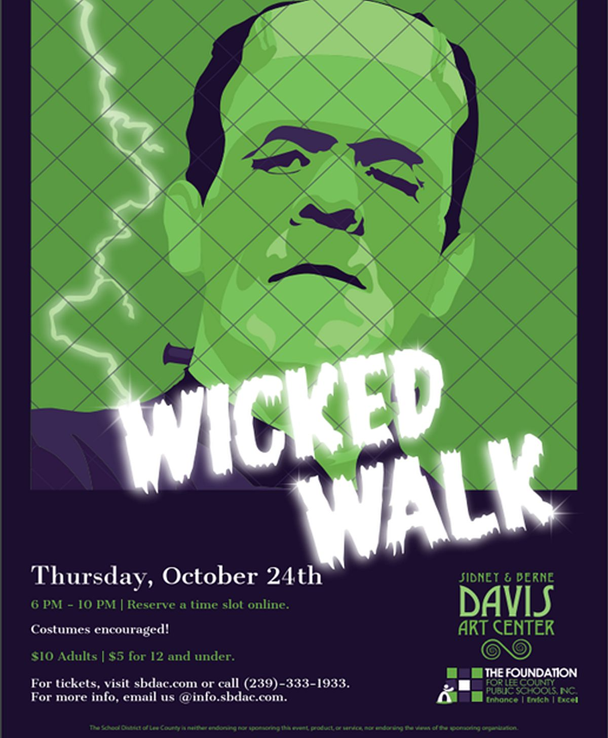 The Foundation for Lee County Public Schools and The Sidney & Berne Davis Art Center Hosts the 2nd Annual Wicked Walk