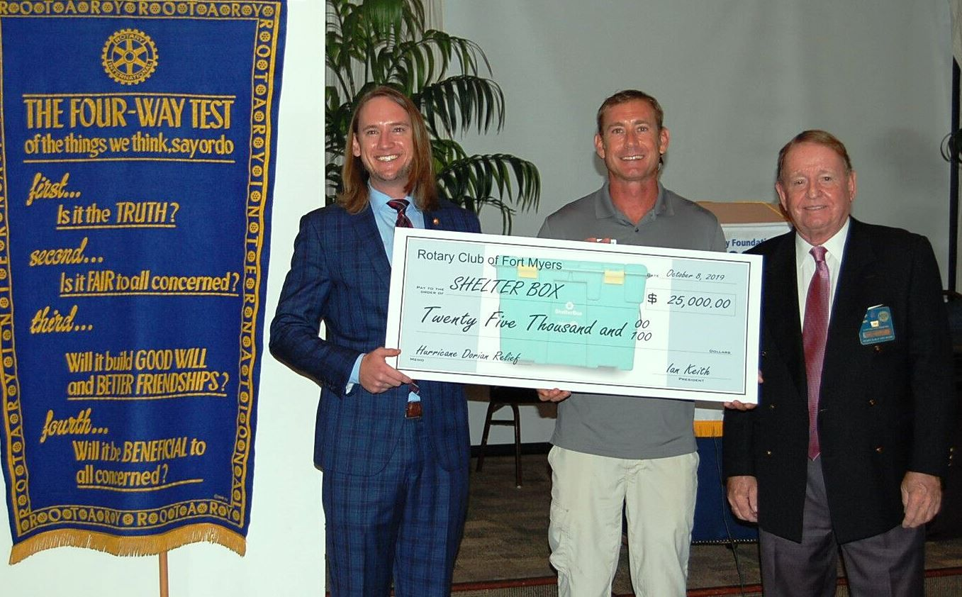 Rotary Club of Fort Myers Donates ,000 to ShelterBox USA