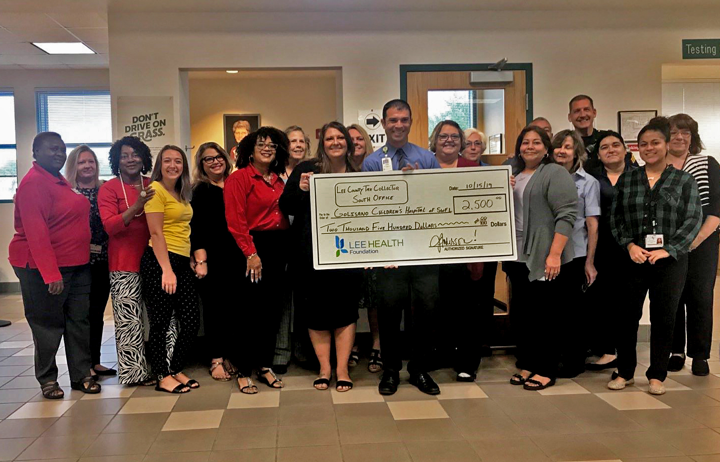 Lee County Tax Collector office raises money for Golisano