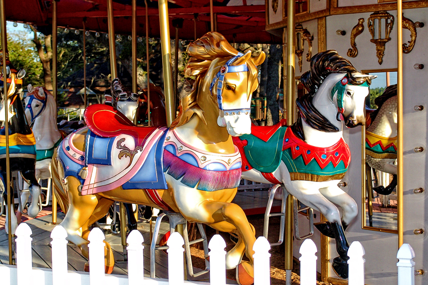 Antique Carousel Gifted to the Shell Factory