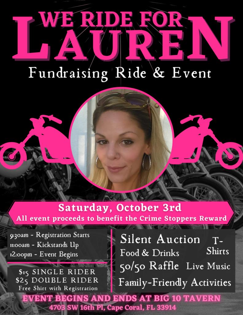"""""""We Ride for Lauren"""" Fundraising Event This Saturday"""