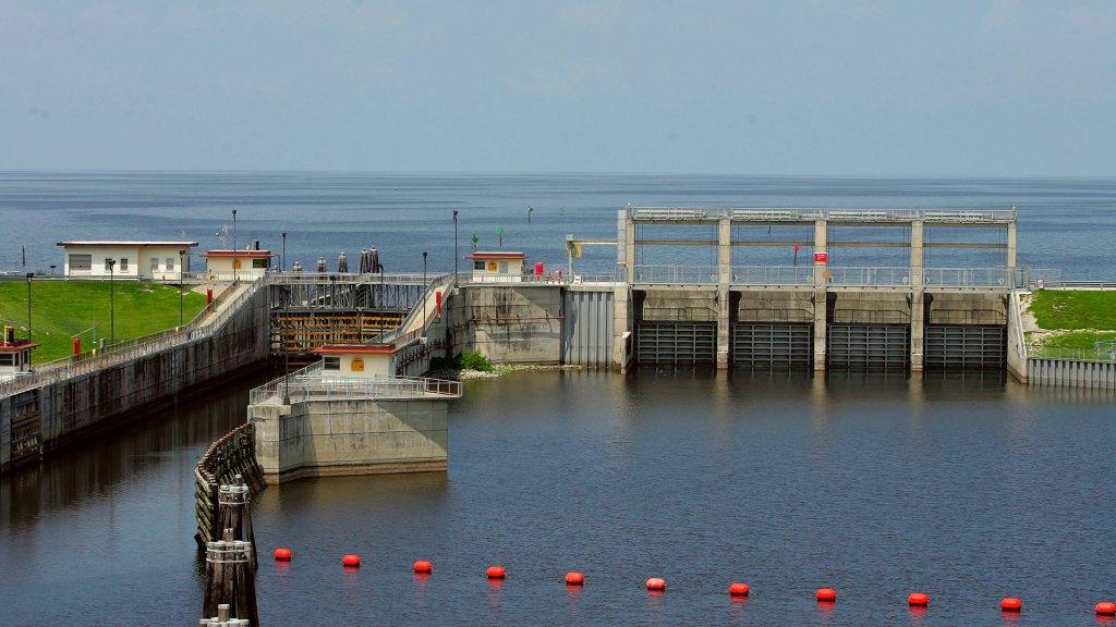 FRANKLIN LOCK PREPARING FOR LAKE OKEECHOBEE RELEASES THIS WEEK