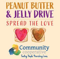 Community Cooperative announces PB&J drive