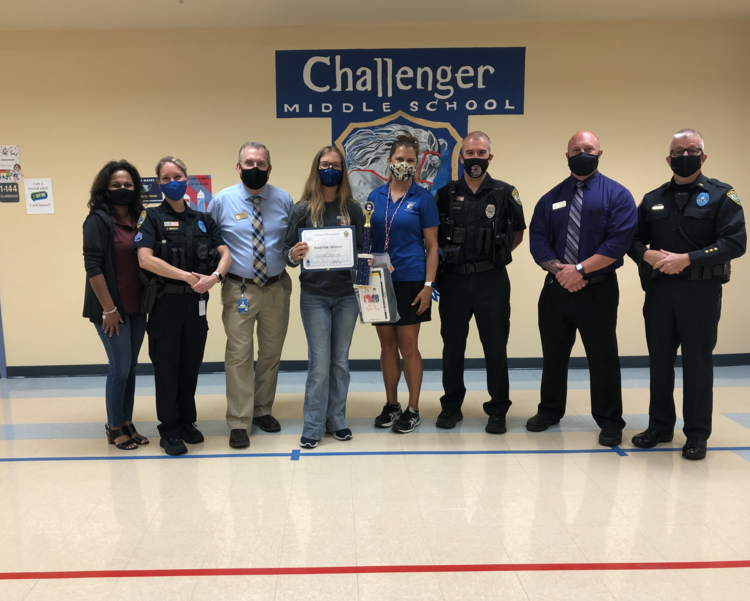 Challenger Middle School Eighth Grader Receives The Do The Right Thing Award