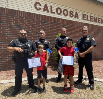 """Two Caloosa Elementary Students Receive """"Do The Right Thing"""" Award"""