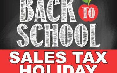 BACK-TO-SCHOOL SALES TAX HOLIDAY STARTS JULY 31