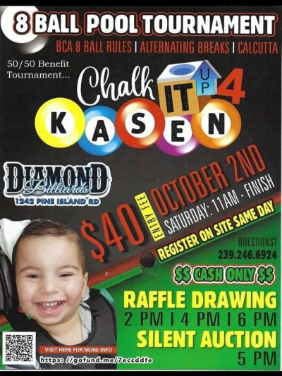 Pool Tournament Fundraiser to be Held to Benefit Local Boy