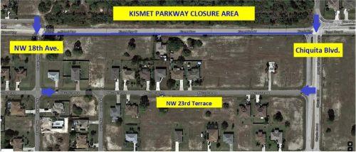 Road Closure Planned at Kismet Parkway West